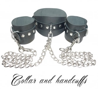 Collar With Handcuffs Nk Free Black